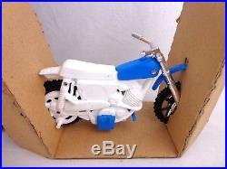 Vintage Evel Knievel Stunt Cycle Action Figure Ideal 1970s Triumph Bike Unused