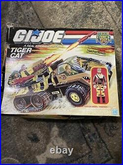 Vintage G. I Joe Tiger Force Tiger Cat Assault Truck Toy Vehicle W Box Figure GI