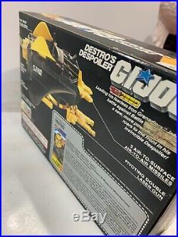Vintage GI JOE Destros Despoiler Action Figure Toy Hasbro New In Box Still Seale