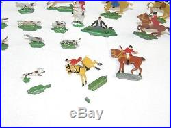 Vintage Hans Heinrichsen Flat Lead Figures Fox Hunt Hunting Set with Box 33 pcs