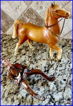 Vintage Hartland Toy Cowboy Western Figure Breyer Davey Crockett & Horse