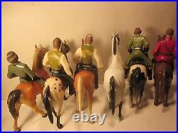Vintage Hartland/breyer Lot/11,6 Horses & 5 Western Figure, Dale, Wyatt, Orourk