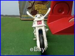 Vintage Ideal Evel Knievel Chrome Stunt Cycle With Nice Figure. Decals Etc