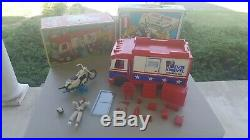 Vintage Ideal Evel Knievel Scramble Van and box / Stunt World / figure and cycle