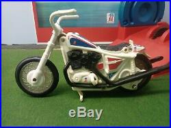 Vintage Ideal Evel Knievel Stunt Cycle With Nice Figure. Decals Etc