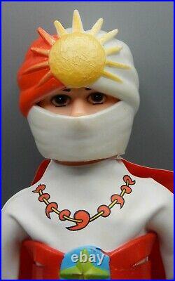 Vintage Japan RAINBOWMAN vinyl toy NAKAJIMA nodder figure sofubi tokusatsu RARE