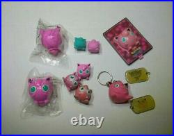 Vintage Jigglypuff TOMY Nintendo Kelloggs Figure Eraser Pokemon Keychain Toy Lot