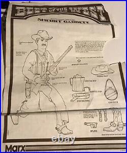 Vintage Johnny West Sheriff Garrett in BOX Complete NICE Figure MARX BOTW Guide