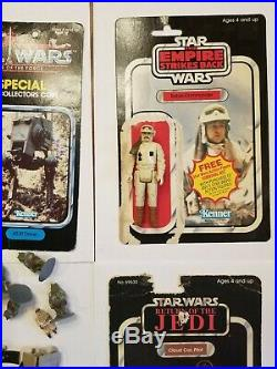 Vintage KENNER STAR WARS 1970s 1980s TOY LOT action figures, weapons, card backs