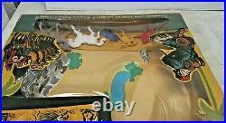 Vintage Lido Foreign Legion Playset w Plastic figures, box, battleground RARE