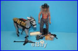Vintage Lone Ranger Marx Gabriel figure doll & Donkey Mysterious Prospector set