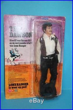 Vintage Lone Ranger Marx Gabriel figure doll TEX Dawson Sheriff MIP IN Package