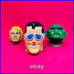 Vintage Lot Mexico Stretch Head Monster, Armstrong And Elastic Man Toy Figures