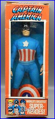 Vintage MEGO Marvel comics CAPTAIN AMERICA action figure 8 with original BOX toy