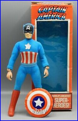 Vintage MEGO Marvel comics CAPTAIN AMERICA action figure 8 with original BOX toy