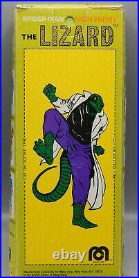 Vintage MEGO Marvel comics LIZARD action figure 8 with original BOX toy Spiderman