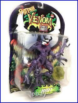 Vintage Marvel Comics Spiderman VENOM Symbiote Series RIOT 6 figure toy rare