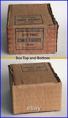 Vintage Marx Comic Strip Figures Dick Tracy etc all 12 in Original Box 1950s