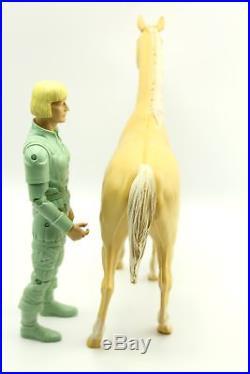 Vintage Marx Green Erik the Viking & Horse Action Figure Box Accessories