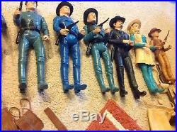 Vintage Marx Johnny West 8 Figure Huge Lot Accessories some rarer items