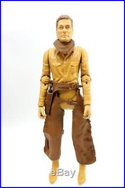 Vintage Marx Johnny West Cowboy Action Figure with Wild West Gear & Box #2062