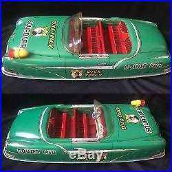 Vintage Marx Large Dick Tracy Squad Tin Litho Friction Car Toy with Box & Figures
