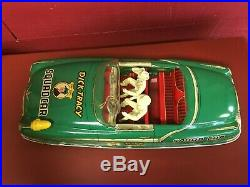 Vintage Marx Large Dick Tracy Squad Tin Litho Friction Car Toy with Figures