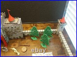 Vintage Marx Tin Litho Robin Hood Castle Playset with Figures, Little John Friar