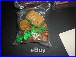 Vintage Marx Western Town Miniature Play Set 9 parts & 7 bags of mini figures