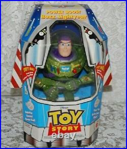 Vintage Mattel 1998 Power Boost Buzz Lightyear Toy Story Action Figure