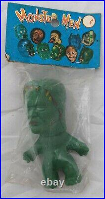Vintage Monster Men FRANKENSTEIN Toy MIP Hong Kong 60s NIk Troll Doll Figure
