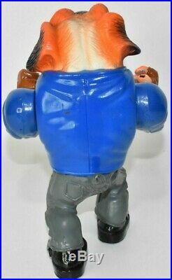 Vintage Muscle Mutts Red-Knuckle 1996 Street Wise Designs Figure Toy Rare