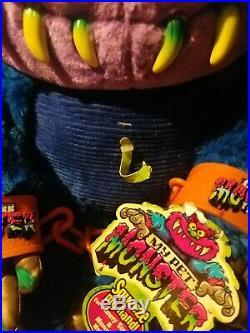 Vintage My Pet Monster Talking Plush Figure New In Box 2001 Rare
