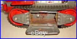 Vintage Nomura Tin Robot Tractor & Original Box 1956 Battery Op Space Figure Toy
