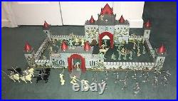 Vintage Original MARX Robin Hood Castle Playset With Figures & Accessories