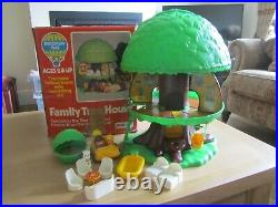 Vintage Palitoy Family Treehouse Pop Up With Furniture & Figures Boxed