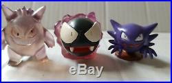 Vintage Pokemon Auldey TOMY Toy Figure gengar, haunter and ghastly. FREESHIP