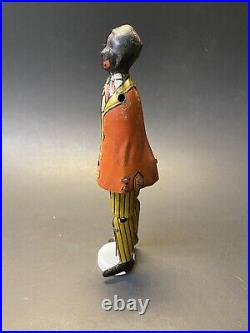 Vintage RARE 1926 Louis Marx Somstepa Coon Jigger Tin Litho Wind Up Toy Figure