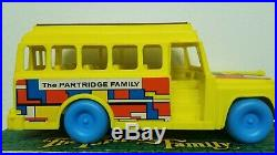 Vintage RARE Remco 1973 Partridge Family Bus Playset withBox & Figures