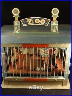 Vintage RARE original tin toy Zoo animals Germany 1880s 1890s figure FF