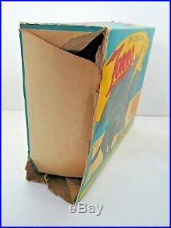 Vintage Rare 1958 Marx Disney Zorro & Tornado 8 Inch Figure Set In Box Tv Toy