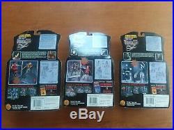 Vintage Resident Evil 2. TOTALS 3 FIGURES Toy Biz NEW /sealed NIB 1998