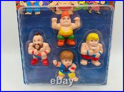 Vintage SOMA City Warrior FULL SET Of Plastic Toy Figures Street Fighter KO MOC