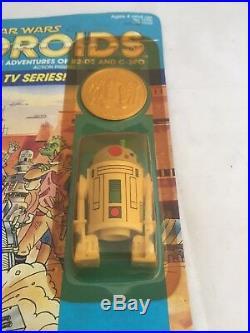 Vintage Star Wars Droids R2D2 Pop Up Saber Toy Action Figure MOC Kenner USA 1985