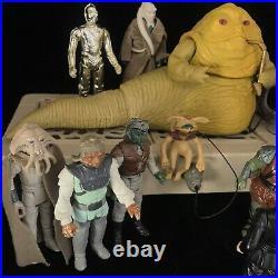 Vintage Star Wars JABBA's Palace Figures Bundle PlaySet Kenner Return Jedi Toy