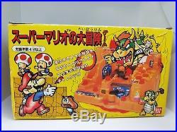 Vintage Super Mario Bros Japan 1986 Game Stage Playset Figure Toy Board Nintendo