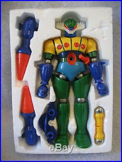 Vintage Takara GEAG magnemo magnetic figure with BOX 1970's RARE microman toy