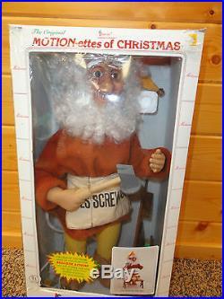 Vintage Telco Animated Christmas Motionette Carpenter Toy Shop Elf