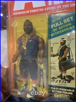 Vintage The A-Team B. A. Baracus Mr T Action Figure Galoob 1983 Carded Toy