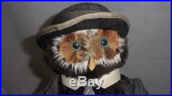 Vintage Toy Owl Doll Figure By Jungle Toys London -Accountant Owl With Briefcase